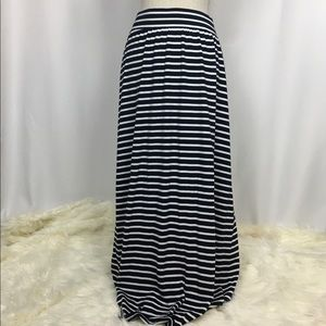 Gap Blue/White Stripe Maxi Skirt, Size Medium